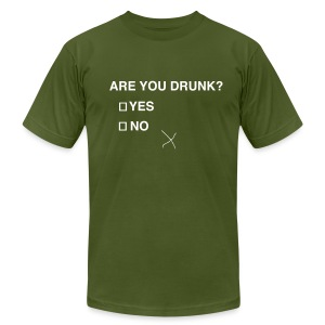 Are You Drunk? - Men's T-Shirt by American Apparel