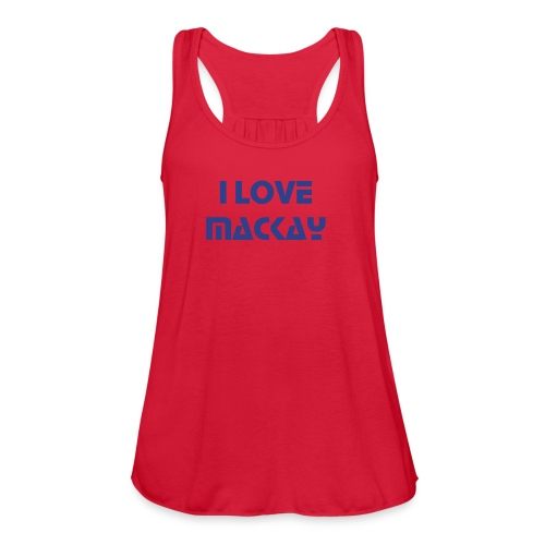 I LOVE MACKAY WOMEN'S FLOWY TANK TOP by Bella - Women's Flowy Tank Top by Bella