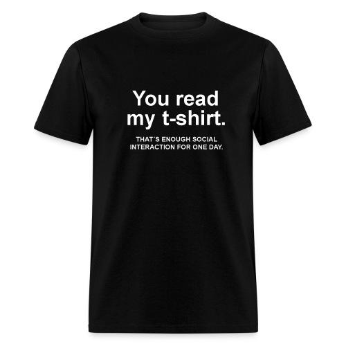 The Anti-Smalltalk Shirt  - Men's T-Shirt