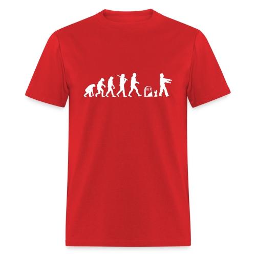 Zombie Evolution Funny - Men's T-Shirt