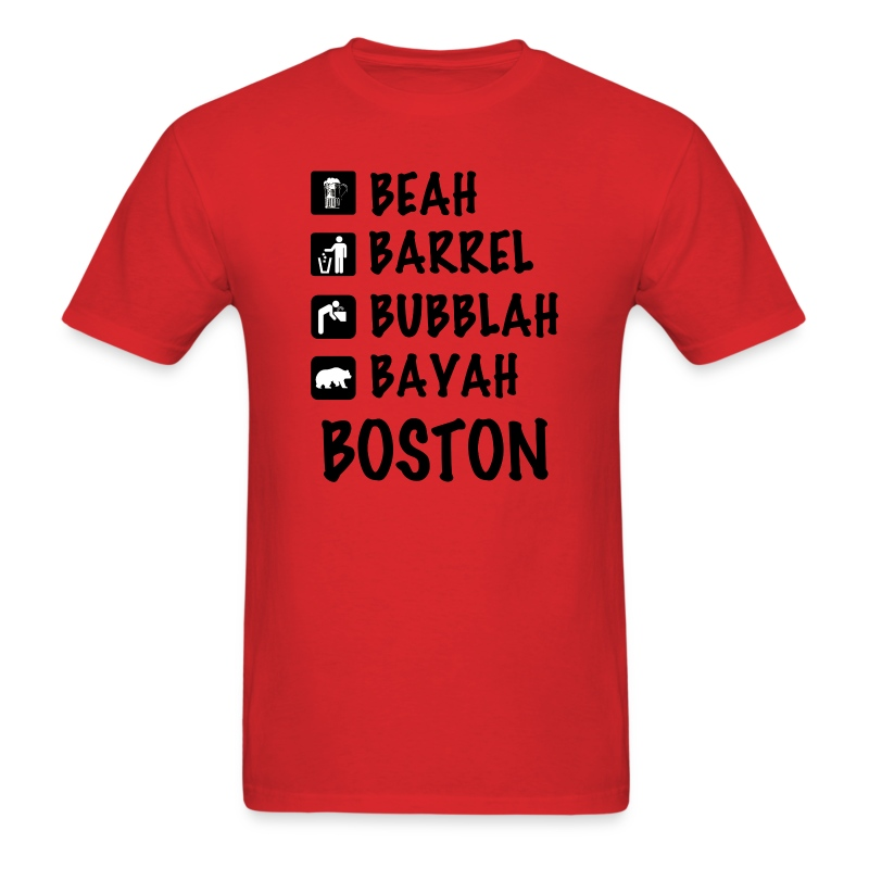 Funny Cute Boston Accent Dialect T-Shirt Shirts T T-Shirt ...