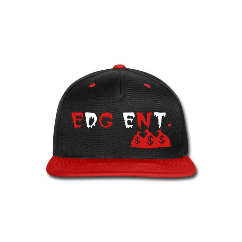 EDG ENT. Snap-back Baseball Cap Rd/Blk/Wht - Snap-back Baseball Cap