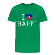 T-Shirts ~ Men's Premium T-Shirt ~ i love haiti T-Shirts