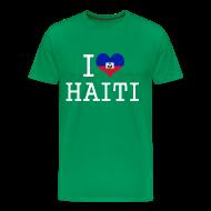 T-Shirts ~ Men's Premium T-Shirt ~ i love haiti T-Shirts