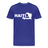 T-Shirts ~ Men's Premium T-Shirt ~ haiti map T-Shirts