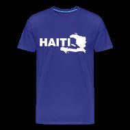 T-Shirts ~ Men's Premium T-Shirt ~ haiti map T-Shirts