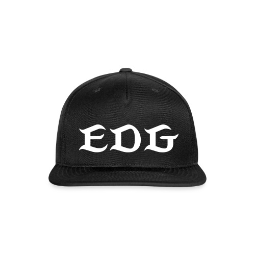 Signature EDG Snap-back Baseball Cap Blk/Wht - Snap-back Baseball Cap