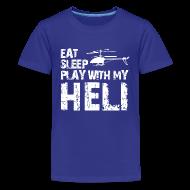 Kids' Shirts ~ Kids' Premium T-Shirt ~ eat sleep play heli Kids' Shirts