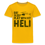 Kids' Shirts ~ Kids' Premium T-Shirt ~ eat sleep play heli Kids' Shirts