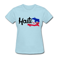 Women's T-Shirts ~ Women's T-Shirt ~ haiti map Women's T-Shirts