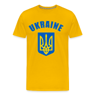 T-Shirts ~ Men's Premium T-Shirt ~ ukraine coat of arms T-Shirts