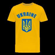 T-Shirts ~ Men's Premium T-Shirt ~ ukraine coat of arms T-Shirts