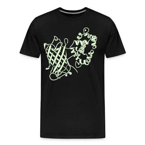 Glow-in-the-Dark GCaMP6 Protein Structure! - Men's Premium T-Shirt