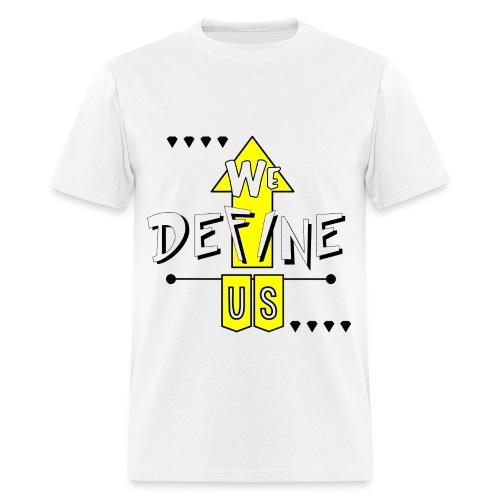 #wedefineus yellow  - Men's T-Shirt