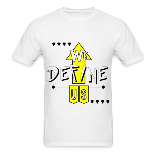 #wedefineus yellow  - Men's T-Shirt