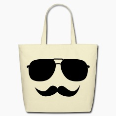 Mustache face Bags & backpacks
