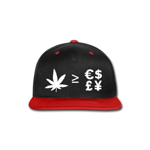 Greater Than or Equal To  - Snap-back Baseball Cap