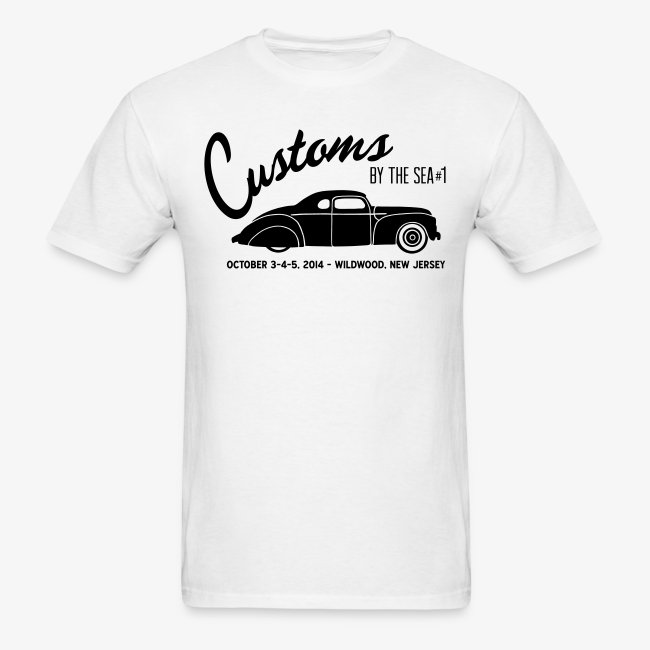 Kustomrama Online Store Customs By The Sea White Mens T - Car show t shirts for sale