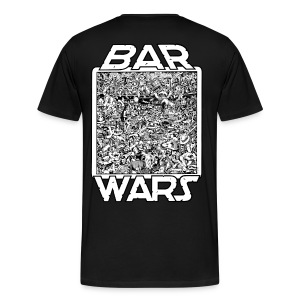 Bar Wars Back, Geek surfboards front - Men's Premium T-Shirt