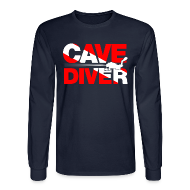 Long Sleeve Shirts ~ Men's Long Sleeve T-Shirt ~ cave diver Long Sleeve Shirts