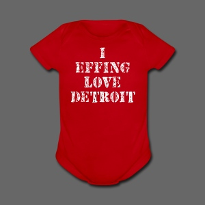 I Effing Love Detroit - Short Sleeve Baby Bodysuit