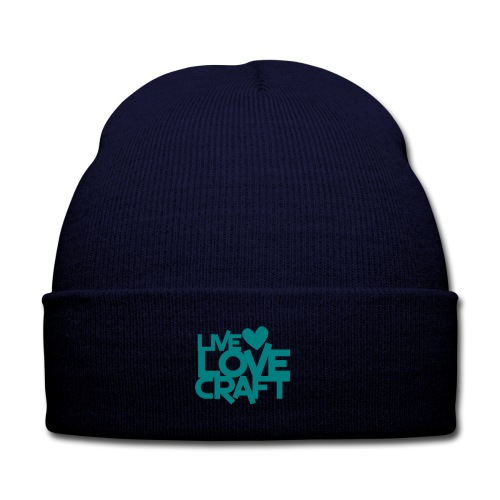 Live, Love, Craft Tuke - Knit Cap with Cuff Print
