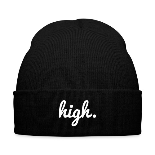 high - Knit Cap with Cuff Print