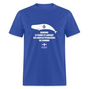 Sauvons le St-Laurent! - T-shirt pour hommes