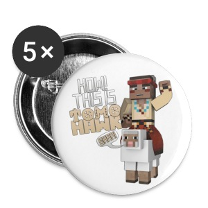 Tomohawk & Wooly Badges - Small Buttons
