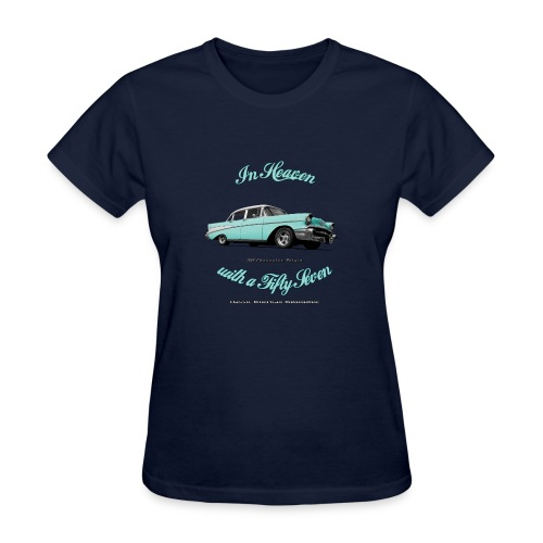 Women's T-Shirt | 57 Chevy Belair | Classic American Automotive - Women's T-Shirt