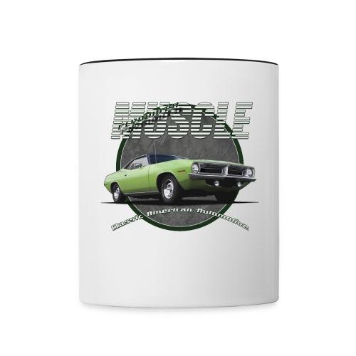 Contrast Coffee Mug | Plymouth Muscle | Classic American Automotive - Contrast Coffee Mug