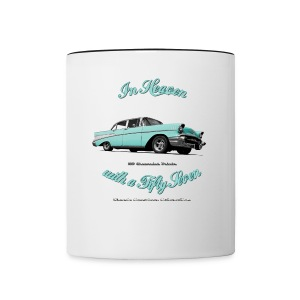 Contrast Coffee Mug | 57 Chevy Belair | Classic American Automotive - Contrast Coffee Mug