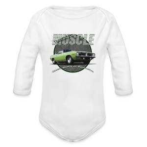 Baby Long Sleeve One Piece | Plymouth Muscle | Classic American Automotive - Long Sleeve Baby Bodysuit