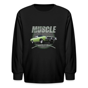 Kids' Long Sleeve T-Shirt | Plymouth Muscle | Classic American Automotive - Kids' Long Sleeve T-Shirt