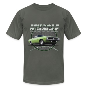 Men's T-Shirt by American Apparel | Plymouth Muscle | Classic American Automotive - Men's T-Shirt by American Apparel