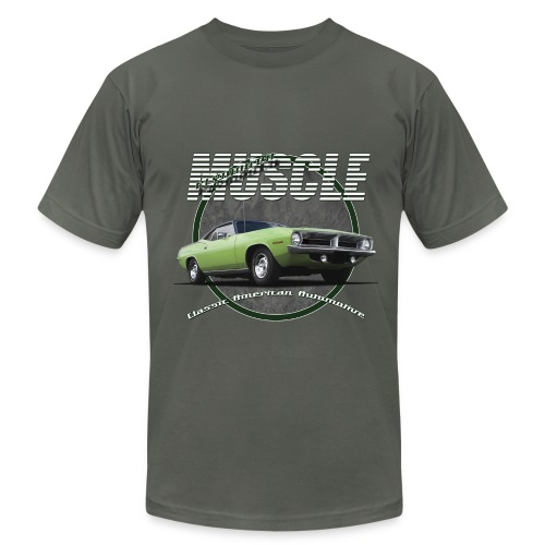 Men's T-Shirt by American Apparel | Plymouth Muscle | Classic American Automotive - Men's Fine Jersey T-Shirt