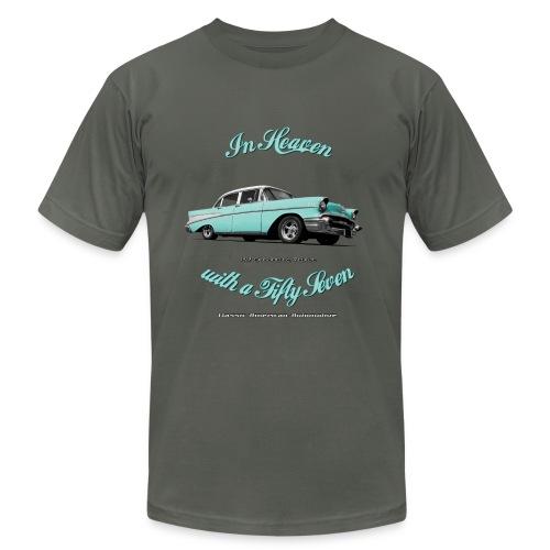 Men's T-Shirt by American Apparel | 57 Chevy Belair | Classic American Automotive - Men's Fine Jersey T-Shirt