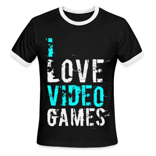 I Love Games T-Shirt - Men's Ringer T-Shirt