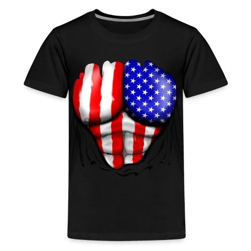 Kid's America Chest - Kids' Premium T-Shirt