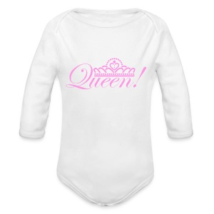 Queen Baby Long Sleeve One Piece - Long Sleeve Baby Bodysuit
