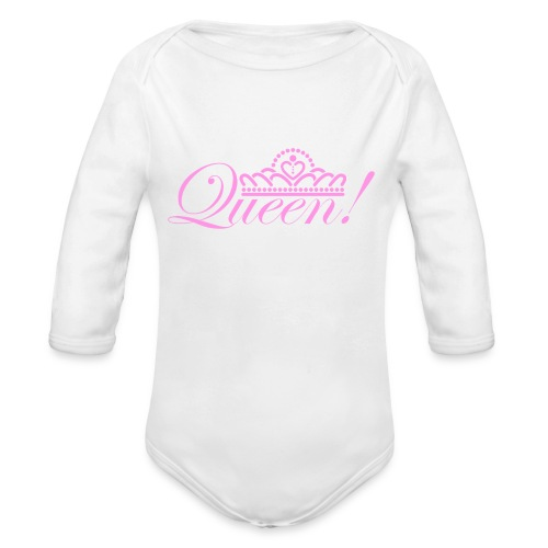 Queen Baby Long Sleeve One Piece - Organic Long Sleeve Baby Bodysuit