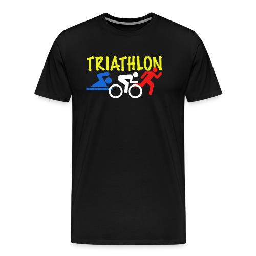 Triathlon Red White Blue tshirt - Men's Premium T-Shirt