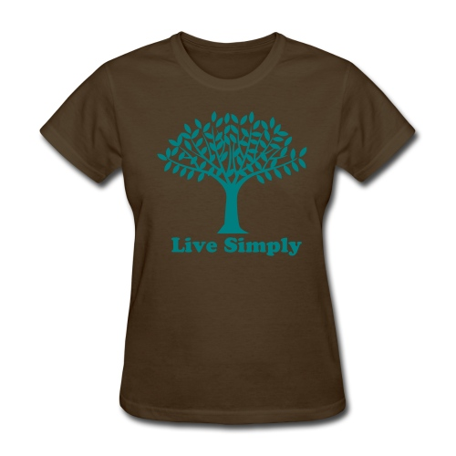 Live Simply Tree Of Life Womens T Shirt - Women's T-Shirt