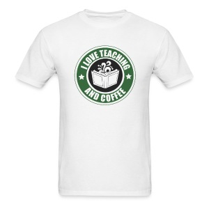 LOVE TEACHING AND COFFEE MENS - Men's T-Shirt