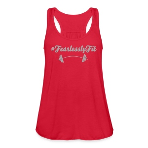 Fearlessly Fit Tank with glitter text - Women's Flowy Tank Top by Bella