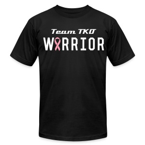 Team TKO Cancer Warrior T-Shirt 2 - Men's T-Shirt by American Apparel