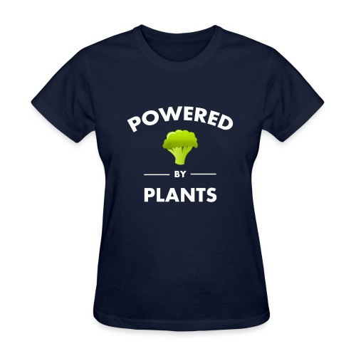 Powered by plants women's t shirt - Women's T-Shirt