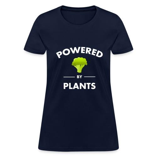 Powered by plants women's t shirt - Women's T-Shirt