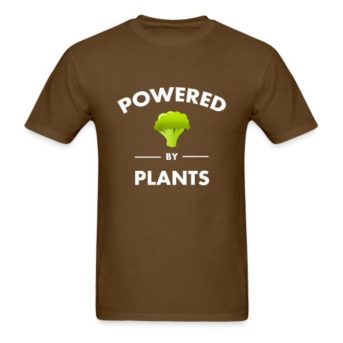 Powered by plants t shirt - Men's T-Shirt