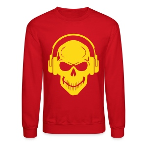 Skull Headphone sweater - Crewneck Sweatshirt